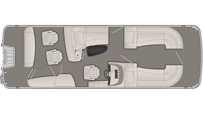 Bennington R Series 25RBR Floor Plan - 2020