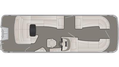 Bennington R Series 25RCL Floor Plan - 2020