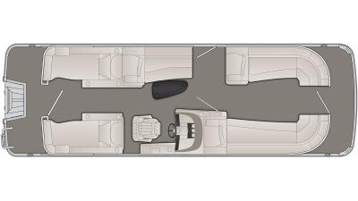 Bennington R Series 25RCW Floor Plan - 2020