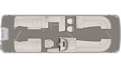 Bennington R Series 25RCWB Floor Plan - 2020