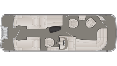 Bennington R Series 25RCWCP Floor Plan - 2020