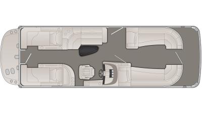 Bennington R Series 25RCWIO Floor Plan - 2020