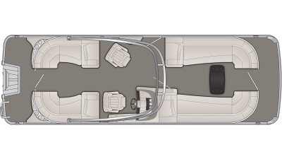 Bennington R Series 25RFBA Floor Plan - 2020