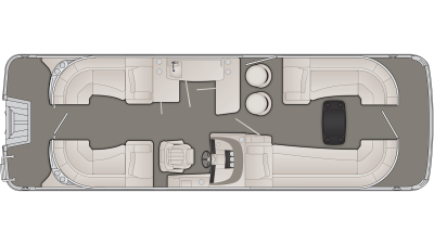 Bennington R Series 25RFBB Floor Plan - 2020