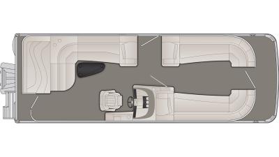 Bennington R Series 25RL Floor Plan - 2020