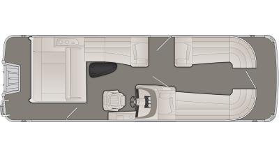 Bennington R Series 25RSB Floor Plan - 2020