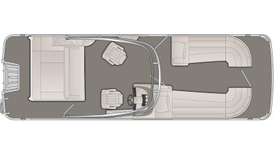Bennington R Series 25RSBA Floor Plan - 2020