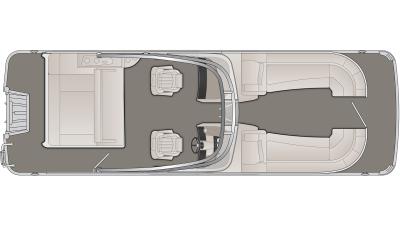 Bennington R Series 25RSBWA Floor Plan - 2020