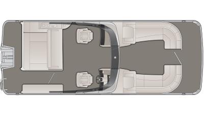 Bennington R Series 25RSBWAX1 Floor Plan - 2020
