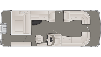 Bennington R Series 25RSBX1 Floor Plan - 2020
