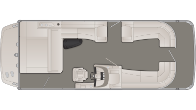 Bennington R Series 25RSBX1IO Floor Plan - 2020