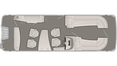 Bennington R Series 25RSD Floor Plan - 2020