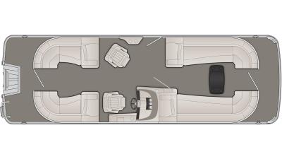 Bennington R Series 25RSR Floor Plan - 2020