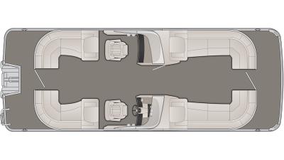 Bennington R Series 25RSRWX1 Floor Plan - 2020