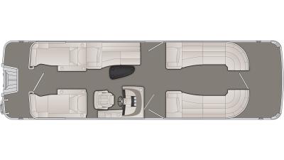 Bennington R Series 28RCW Floor Plan - 2020