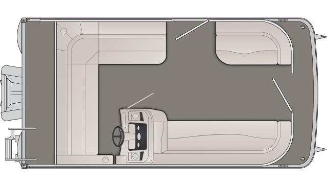 Bennington S Series 168SLE Floor Plan - 2020