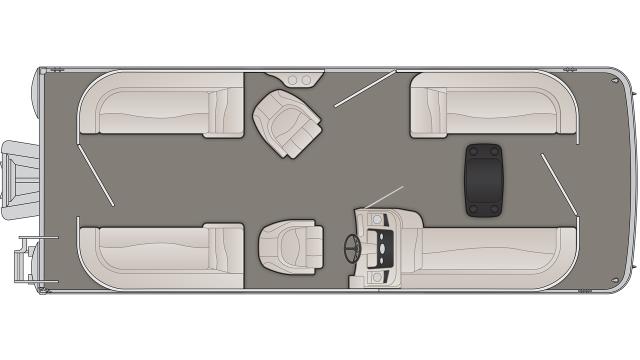 Bennington S Series 23SSR Floor Plan - 2020
