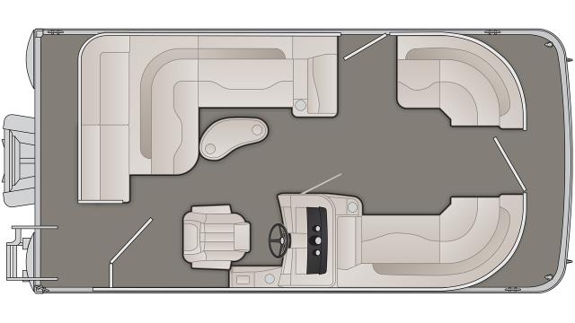 Bennington SXP Series 18SLXP Floor Plan - 2020
