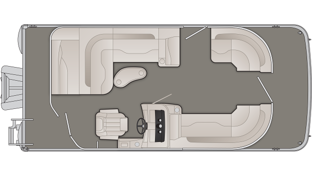 Bennington SXP Series 20SLMXP Floor Plan - 2020
