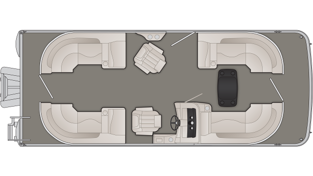 Bennington SXP Series 22SSRXP Floor Plan - 2020
