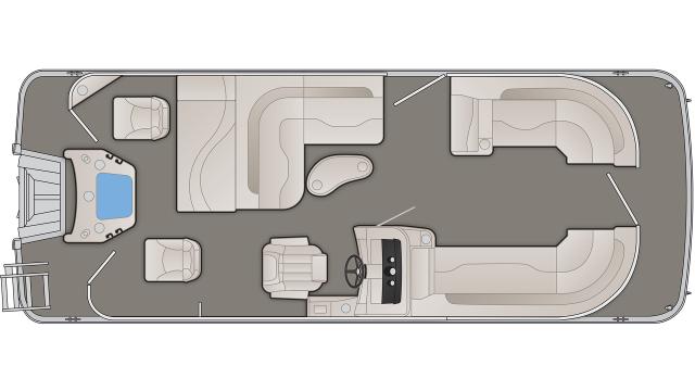 Bennington SXP Series 22SSXAPGP Floor Plan - 2020