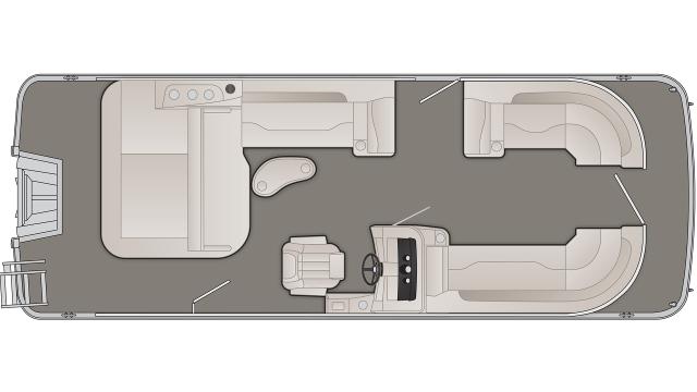 Bennington SXP Series 23SSBXP Floor Plan - 2020