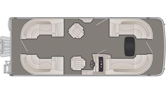 Bennington SXP Series 23SSRXP Floor Plan - 2020