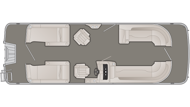Bennington SXP Series 25SCWXP Floor Plan - 2020