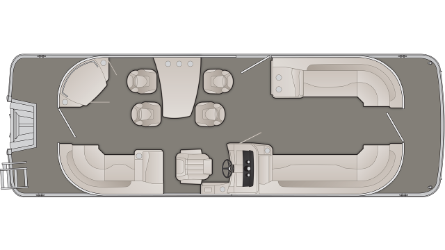 Bennington SXP Series 25SPDXP Floor Plan - 2020