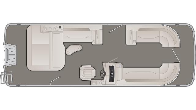 Bennington SXP Series 25SSBXPA Floor Plan - 2020