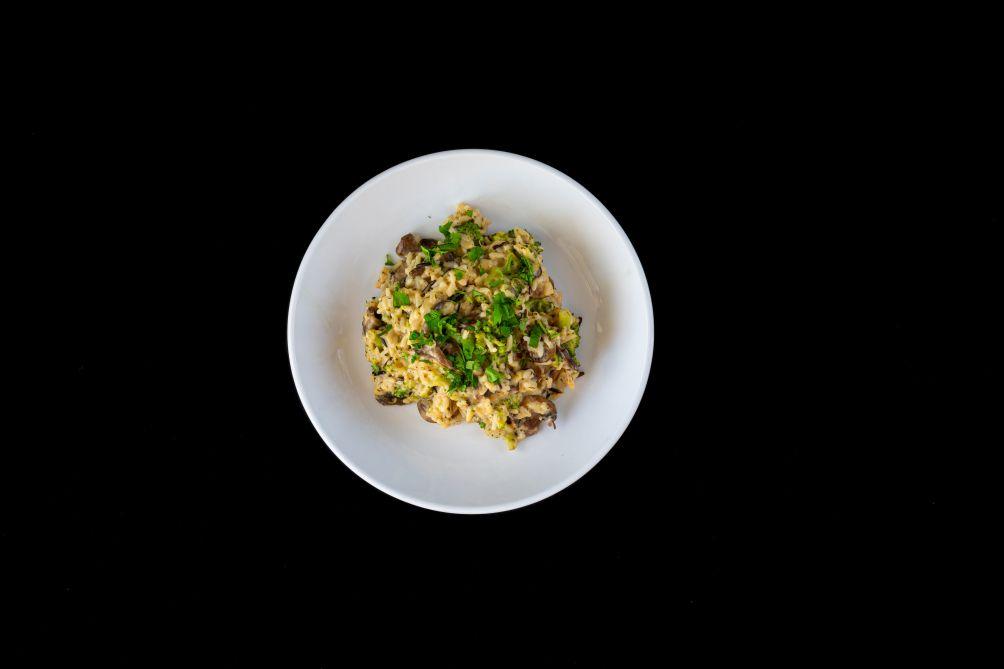Aged Cheddar, Broccoli and Wild Mushroom Rice