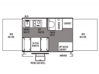 2014 Rockwood Freedom 1950 Floor Plan
