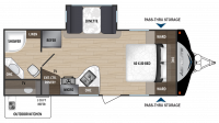 2018 Aerolite Luxury Class 2133RB Floor Plan