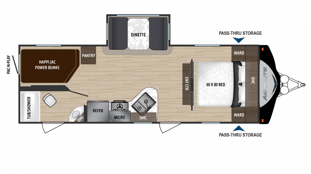 2018 Aerolite Luxury Class 2423BH Floor Plan Img