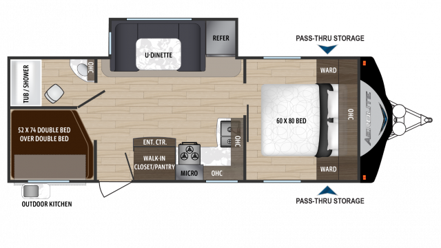 2018 Aerolite Luxury Class 2573BH Floor Plan