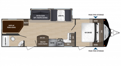 2018 Aerolite Luxury Class 2843BH Floor Plan
