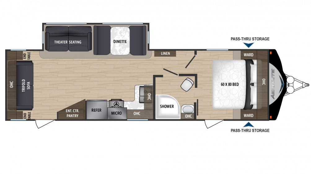 2018 Aerolite Luxury Class 2933RL Floor Plan Img