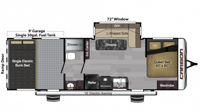 2018 Carbon 27 Floor Plan
