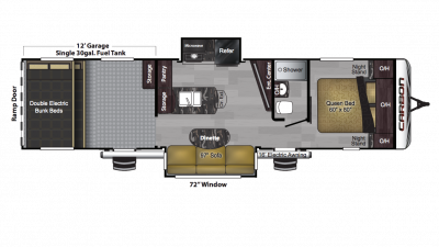 2018 Carbon 35 Floor Plan