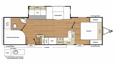 2018 Catalina Legacy Edition 273DBS Floor Plan