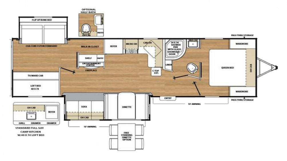 2018 Catalina Legacy Edition 313DBDSCK Floor Plan Img