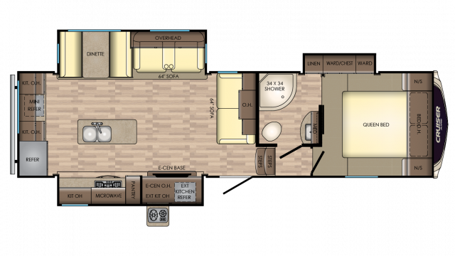 2018 Cruiser Aire 28RD Floor Plan Img