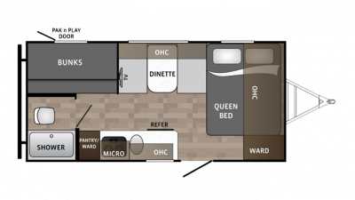 2018 Kodiak Cub 175BH Floor Plan Img