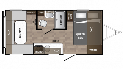 2018 Kodiak Cub 176RD Floor Plan