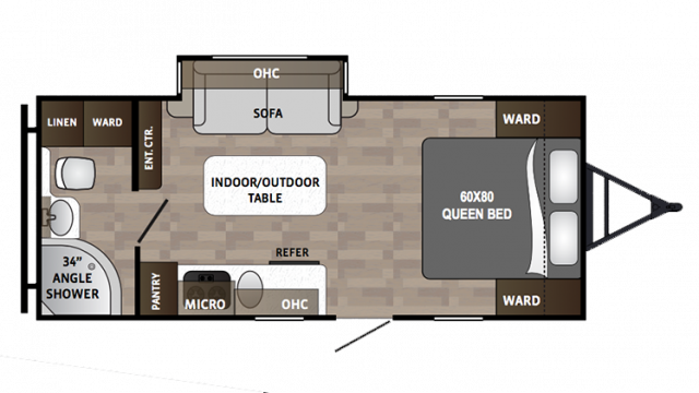 2018 Kodiak Cub 185MB Floor Plan