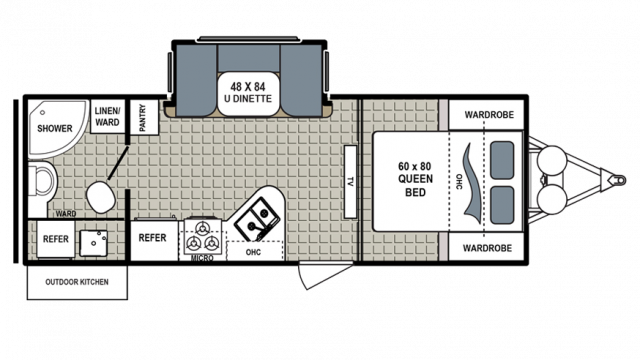 2018 Kodiak Ultimate 230RBSL Floor Plan