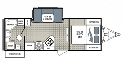 2018 Kodiak Ultimate 230RBSL Floor Plan Img