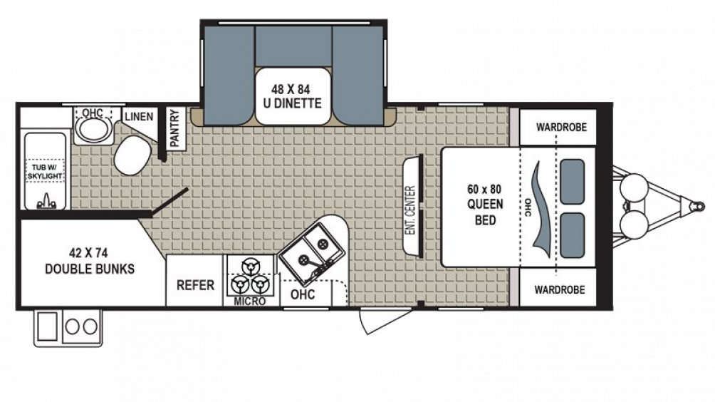 2018 Kodiak Ultimate 240BHSL Floor Plan Img