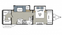 2018 Kodiak Ultimate 2711BS Floor Plan