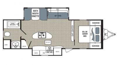2018 Kodiak Ultimate 279RBSL Floor Plan Img